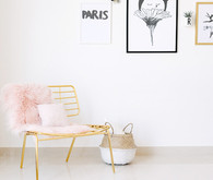 modern copper girls room