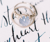 Vintage blue wedding ring