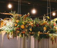 Hanging floral centerpiece