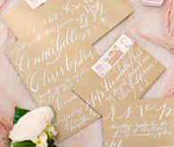 White calligraphy invites