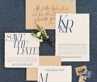 Desert wedding invitation