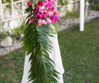 Tropical Palm Springs wedding