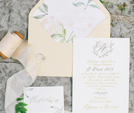 Summer garden wedding invitation