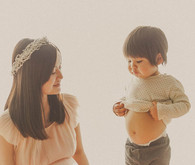 mother son vintage style maternity photos