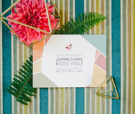 Colorful geometric invitation