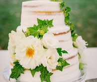 White naked wedding cake