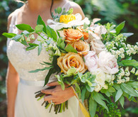 Golden rose bridal bouquet
