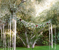 Ribbon and garland decor
