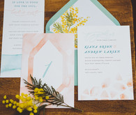 Watercolor wedding invitaton