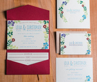 Late summer wedding invitation