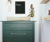 diy green changing table
