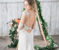 Open back wedding gown