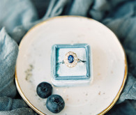 Blue wedding ring
