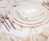 Gold wedding linen
