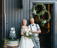 Modern black and white wedding inspiration