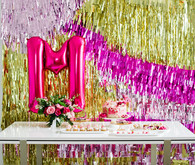 Hot pink and gold party ideas