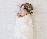 Flower crown newborn session