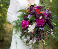 Purple bridal bouquet