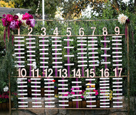 Whimsical escort card display