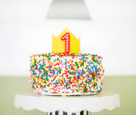 Colorful first birthday ideas