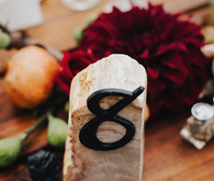 Rustic table number