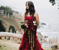 Red Vera Wang wedding dress