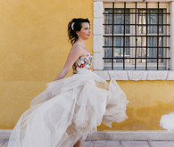 David Fielden wedding gown