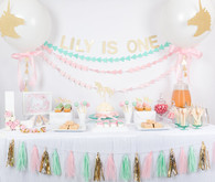 Pastel unicorn 1st birthday
