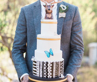 Woodland wedding cake