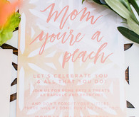 Peach Mother's Day brunch