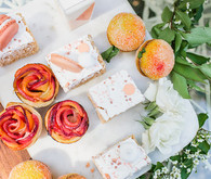Peach Mother's Day brunch desserts
