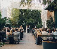 Tropical Downtown LA wedding