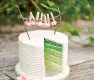 Ombre wedding cake