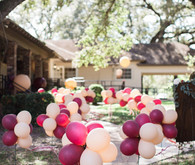 blush and marsala balloons