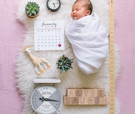 baby girl newborn photo announcement
