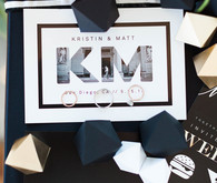 Black and white wedding stationery