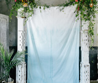 Blue ombre ceremony backdrop