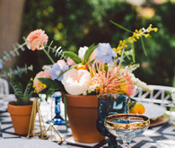 Bohemian modern wedding decor
