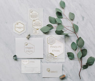 Modern wedding invitations