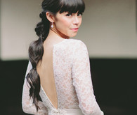 Modern ponytail wedding hairstyle