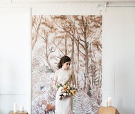Feminine forest wedding inspiration