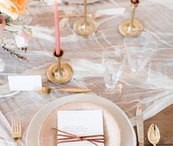 Brown, pink, and gold wedding ideas