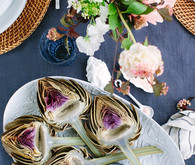 Summer oysters and rose party with 100 Layer Cake and Crate and Barrel