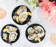 Rose and oysters party with Crate and Barrel and 100 Layer Cake