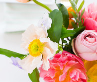 colorful bridal shower florals
