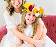 Floral mother-daughter brunch