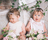 Floral twin 1st birthday party