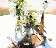 Rustic California garden wedding