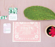 Pink cactus themed 1st birthday