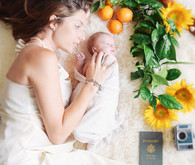 Summery newborn photos